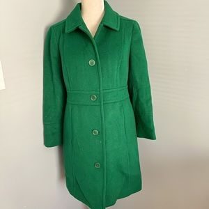 Talbots green wool blend coat Thinsulate